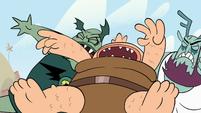 S1E16 Monsters falling backward