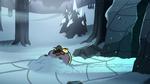 S2E2 Ludo lying in the snow