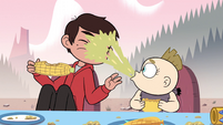 S2E15 Johansen baby spits up on Marco's face