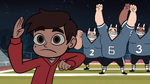 S1E4 Football players cheer for Marco
