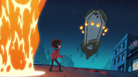 S2E19 Marco Diaz looking up at the risen coffin