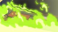 S3E3 Book of Spells starting to burn