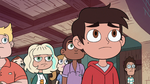S2E41 Marco Diaz looking worried at Star Butterfly