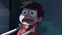 S1E6 Star pins Marco to a wall