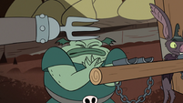 S2E20 Meat Fork strikes Buff Frog with his metal hand again