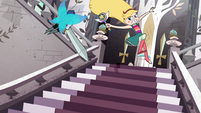 S1E12 Star jumping up stairs