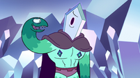 S2E34 Right snake hand tries to cheer up Rhombulus