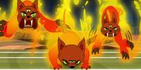 Three-eyed firecats