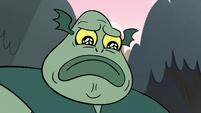 S2E12 Buff Frog looking sad at his phone