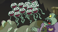 S3E5 Buff Frog's tadpoles out from behind couch