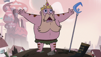 S3E4 King River gesturing a 'go away' motion