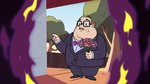 S2E28 Principal Skeeves holding flower bouquet