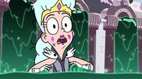 S3E5 Queen Moon surprised by glowing ooze
