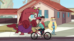 S1E13 Bicycle guy rides past