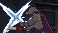 S2E18 Rasticore cutting a portal with his chainsaw