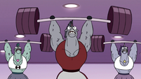 S2E22 Warnicorns lifting weights in the gym