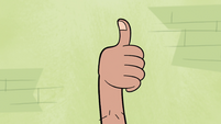 S1E5 Sprouted arm gives a thumbs up