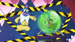 S2E25 Glossaryck shows Star and Marco on Omnitraxus' orb