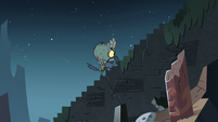 S3E3 Ludo marching angrily up the temple steps