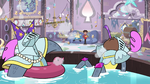 S3E4 Butterfly Castle guards in the hot tub