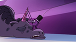 S2E22 Spider With a Top Hat fixing Rock's horn