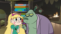 S3E5 Buff Frog looks at Star suspiciously