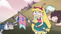 S2E15 Star Butterfly picking up the flags
