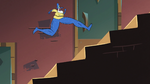 S2E25 Glossaryck running up the long stairs