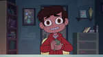 S2E3 Marco crumples up Garbage Island pamphlet