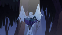 S2E27 Giant spider falls into angel statue's arms