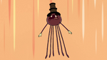 S2E22 Spider With a Top Hat letting out a battle cry