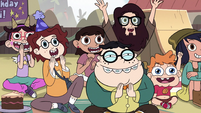 S2E29 Party guests cheering for Preston Change-O