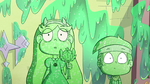 S2E1 Star and Marco covered in green goo