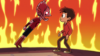 S2E19 Tom floats menacingly toward Marco Diaz