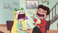 S1E17 Candle in Star's mouth