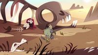 S3E3 Ludo marching angrily through desert