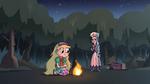 S3E1 Star Butterfly starts a campfire