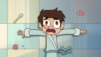 S2E34 Marco Diaz lying on the kitchen floor
