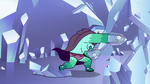 S2E34 Rhombulus angrily breaks a crystal wall