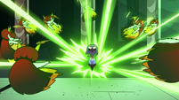 S2E41 Ludo blasts Hekapoo and her clones away