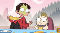 S2E15 Marco Diaz with spit up on his face