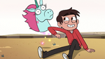 S2E13 Marco Diaz nudges Pony Head with his elbow