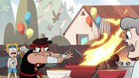 S2E29 Sensei blows out grill fire with his hands