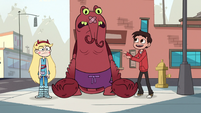 S1E13 Marco tells Lobster Claws to help old lady