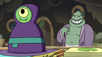 S3E5 Buff Frog and babushka monster game piece
