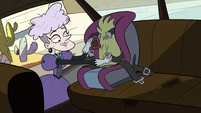 S2E36 Miss Heinous unbuckles Rasticore's arm's seat