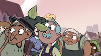 S3E4 Mewman villagers look behind at Ludo
