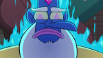 S2E5 Glossaryck glowing with blue fire