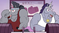 S2E22 Rock and female warnicorn flexing their muscles