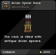 Avian Spear Rack tooltip